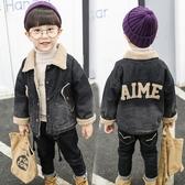 男童牛仔厚外套 內刷毛新品兒童帥氣冬裝