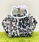 【震撼精品百貨】Hello Kitty 凱蒂貓~日本三麗鷗 kitty 造型手提袋/側背袋-豹紋黑#89608
