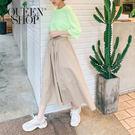 Queen Shop【03020528】素面鬆緊傘擺中裙*現+預*