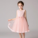 女童禮服 女童公主裙白色網紗裙禮服鋼琴表演服兒童洋氣洋裝蓬蓬裙裙子夏-Ballet朵朵