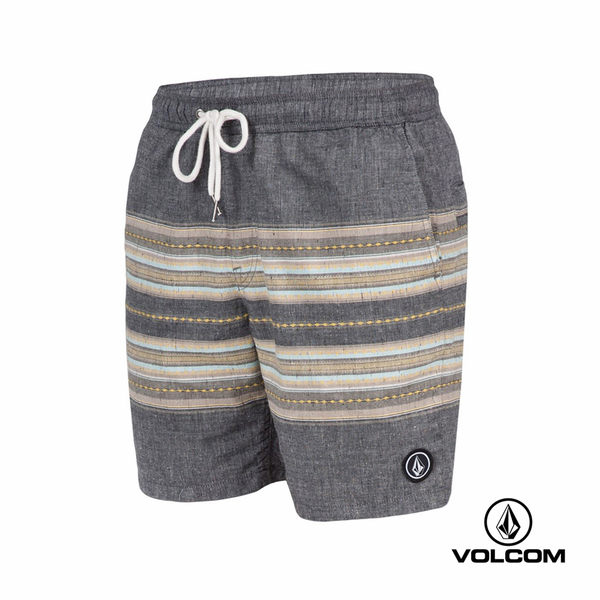 VOLCOM ROGERS EW SHORT 個性拼接短褲-黑