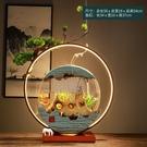 招財擺件 循環流水生財擺件 創意噴泉魚缸辦公室桌面客廳裝飾招財開業送禮品
