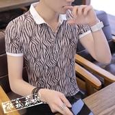 POLO衫 POLO衫男士短袖t恤襯衫領 夏季正韓青年衣服男裝夏裝 鉅惠85折