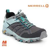 【Merrell】女款戶外鞋 MOAB FST 2 GTX 多功能系列 -灰/藍色(77428) 全方位跑步概念館
