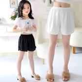 女童安全褲夏季薄款防走光保險褲兒童三分短褲雪紡寬鬆寶寶打底褲 買一送一