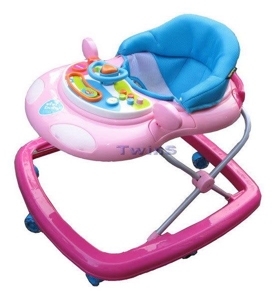 【TwinS伯澄】vivibaby-(台灣製)豪華嬰兒學步車(螃蟹車)【粉藍色】送平面防撞條