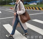子母包包包女夏季新款韓國簡約v型pu皮可調節單肩斜背大水桶子母包   潮流衣舍