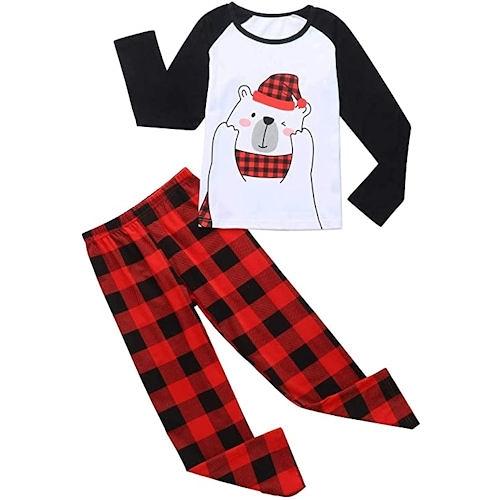 女孩北極熊休閒套裝睡衣