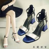 涼鞋女高跟露趾粗跟高跟鞋女涼鞋女鞋