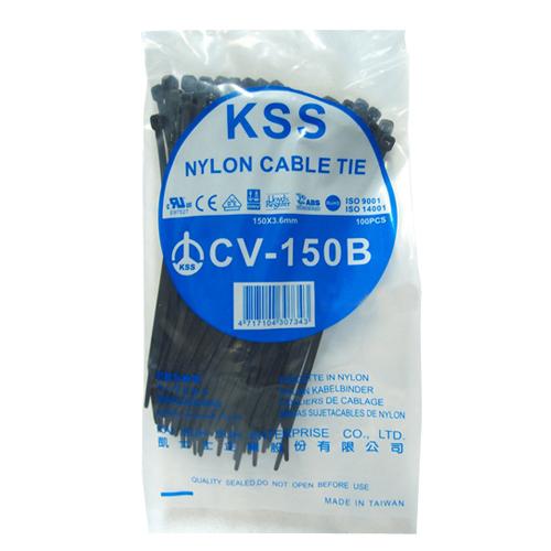 【奇奇文具】束線帶NCT-150B 黑色(CU-150 )