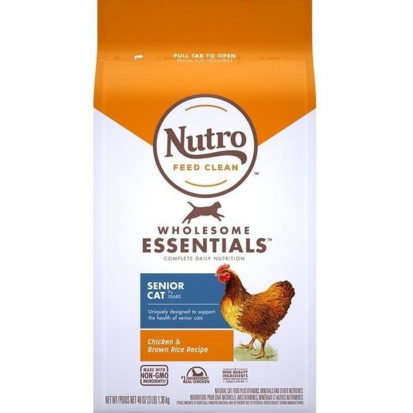 *KING*美士NUTRO《全護營養系列-熟齡貓配方(農場鮮雞+糙米)》5磅(2.26kg) 七歲以上熟齡貓專用 貓糧