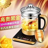 養生壺玻璃花茶壺多功能煮茶器電水壺煎藥壺110V