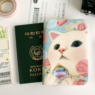 Jetoy,甜蜜貓 收納 護照套_Heaven