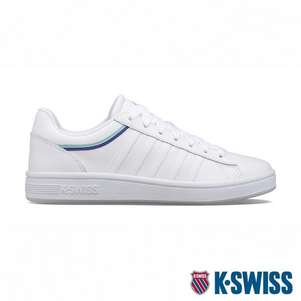 【超取】K-SWISS Court Winston 時尚運動鞋-女-白/藍/深紫