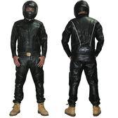 【黑色星期五】機車騎行皮衣 防風夾克賽車服 機車防摔PU外套 配護具五件套