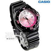 CASIO LRW-200H-4E 渲染漸層設計 LRW-200H-4E 女錶 黑x漸層粉紅 卡西歐 迷你潛水風指針運動錶