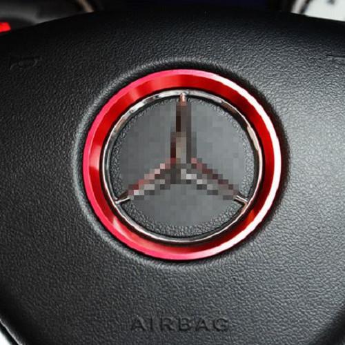 BENZ 方向盤裝飾圈 貼紙 LOGO GLA GLC CLA GLK E級 C級 A級 B級AMG沂軒精品 A0386