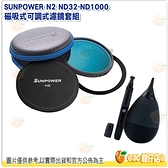 買就送2好禮 含吹球+拭鏡筆+硬殼收納包+原廠鏡頭蓋 SUNPOWER N2 ND32~ND1000 磁吸式可調濾鏡套組