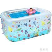 嬰兒充氣游泳池家用加厚新生嬰幼兒童寶寶洗澡桶小孩戲水浴盆 QQ5670『優童屋』