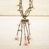 【粉紅堂 飾品】生日禮物 維多利亞風串珠項鍊