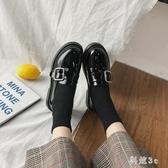 鞋子春款2020小皮鞋女春秋單鞋復古英倫風配裙子2020新款韓版百搭 FX4102 【科炫3c】