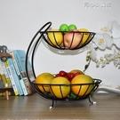 多層水果籃客廳創意時尚果盤簡約中式現代奢...