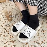 可愛卡通拖鞋女夏外穿韓國ins少女心網紅防滑厚底涼拖居家