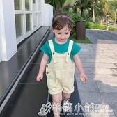 女童裝夏裝新款韓版休閒兒童牛仔吊帶短褲女寶寶小孩夏季褲子 格蘭小舖 全館5折起