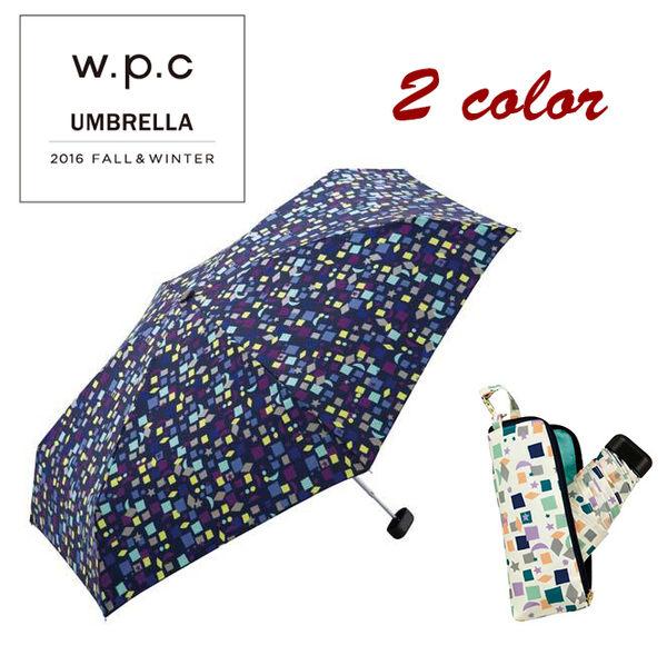 W.P.C 日本知名品牌 晴雨兩用 方格星星月亮折傘 抗UV 抗紫外線 該該貝比日本精品 ☆