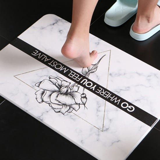 硅藻土 吸水地墊 腳墊 浴室 廁所 腳踏墊 速乾墊 個性大理石紋硅藻土地墊 ✭米菈生活館✭ 【Z195】