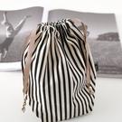 日本 FANCL裝柜禮 限量款 束口抽繩包 收納袋 棉麻材質 條紋款 幸福第一站
