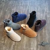 雪靴女短筒冬季雪地靴加絨加厚棉鞋防滑保暖女靴子【邻家小鎮】