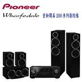 Pioneer VSX-LX104擴大機 + Wharfedale DM230/DM210/DM220C 5聲道家庭劇院組【公司貨保固+免運】