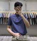 polo衫 polo衫男2021新款大碼翻領短袖t恤純色打底衫