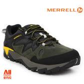 【Merrell】男款戶外健行鞋 ALL OUT BLAZE 2 GTX 郊山健行系列 - 墨綠黃(42429)【全方位運動戶外館】
