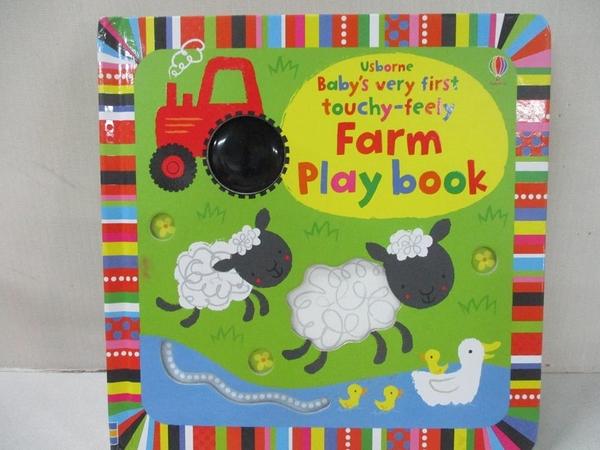 【書寶二手書T5/少年童書_BQQ】Baby's very first touchy-feely Farm Play book_Fiona Watt