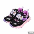 K-SHOES 童鞋 冰雪奇緣2輕量電燈慢跑鞋黑/紫-X04970