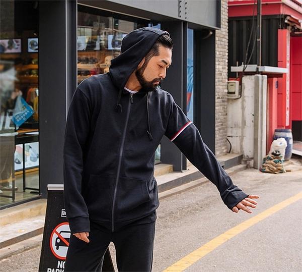 【男人幫】C5500*素面刷毛連帽外套舒適好穿保暖百搭刷毛拉鍊外套