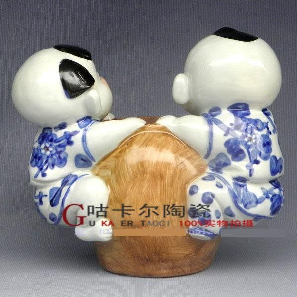 景德鎮 陶瓷器 日進鬥金 青花瓷