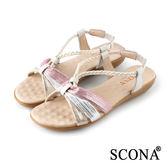 SCONA 蘇格南 絢麗交叉舒適厚底涼鞋 米色 22714-1