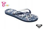 ROXY TAHITI VI 成人女款 拖鞋 海灘 品牌印花 人字拖 夾腳拖 L9402#藍色◆OSOME奧森鞋業