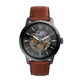 FOSSIL美式休閒鏤空機械皮帶腕錶49mm(ME3181)