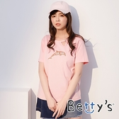 betty's貝蒂思 圓領V口鯨魚T-shirt (粉色)
