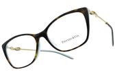 Tiffany&CO.光學眼鏡 TF2160BF 8134 (琥珀棕-蒂芬尼蘭) 甜蜜情結貓眼款 眼鏡框 # 金橘眼鏡