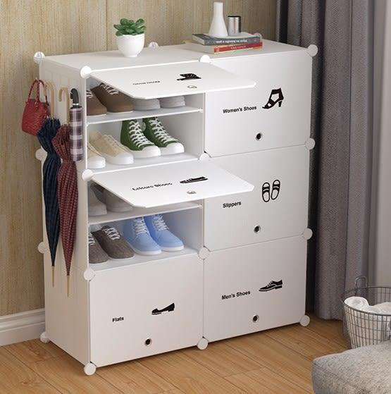 防塵鞋架多層塑料鞋櫃 簡易簡約現代組裝經濟型家用省空間門廳櫃【快速出貨】