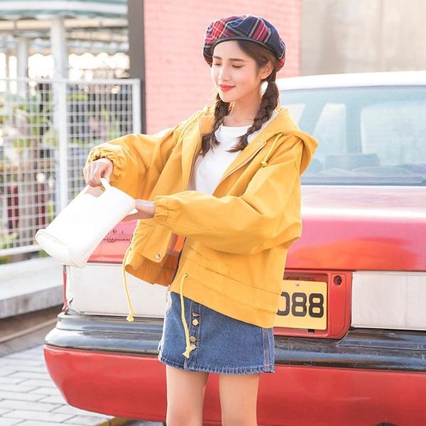 限定款秋冬季新款連帽外套正韓原宿風學院寬鬆百搭短款外套女學生夾克工裝