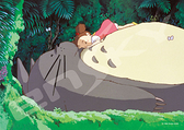 小梅在龍貓肚子上睡午覺 /108P/Ensky/龍貓/日本進口拼圖