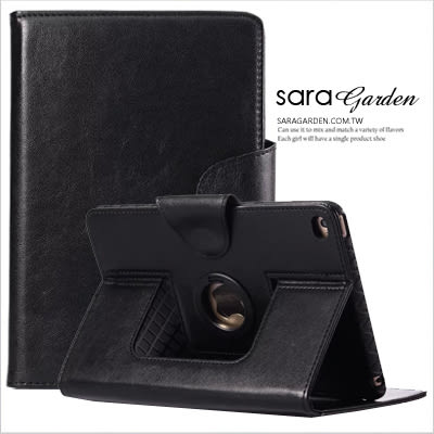 (24H) iPad 2 3 4 6 Pro Air mini 商務 雙層 TPU 摺疊 支架 休眠 皮套 柔軟 保護套 純黑 Sara Garden【D0220070】