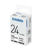 CASIO 標籤機專用色帶-24mm【透明底黑字XR-24X1】