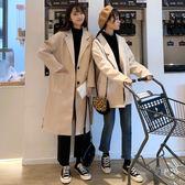 秋冬女裝2018新款小個子韓版中長款休閑呢子大衣寬松風衣毛呢外套